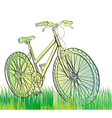 Background with green bike vector image