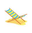 beach chaise longue cartoon vector image