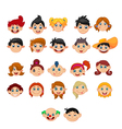Collection of children with different hairstyles vector image