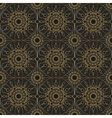 Gold vintage lace seamless ornament vector image