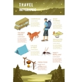Isometric 3d forest hiking elements vector image