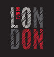 london tee print t-shirt design graphics stamp vector image