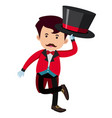 man in red tuxedo on white background vector image