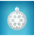 Silver Ball with Snowflake vector image