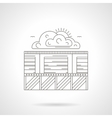 Security of storage detailed line icon vector image