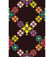 Seamless floral color pattern vector image vector image