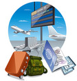 airport arrival departure vector image