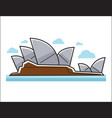sydney opera house colorful in vector image