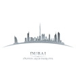 Dubai UAE city skyline silhouette vector image
