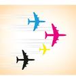 cmyk planes vector image vector image