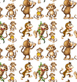 Seamless monkey vector image vector image