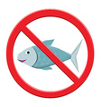 No Fishing Sign vector image vector image