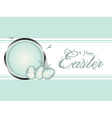 Easter eggs pastel green border vector image vector image