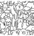 seamless pattern with farm animals vector image vector image