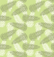 seamless palm branch pattern vector image