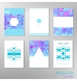 set of modern tribal design cards with vector image