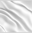 White silk fabric vector image