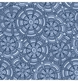 Blue flowers with strips vector image