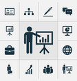 trade icons set collection of chatting vector image