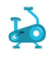 bike machine to do exercise and healthy lifestyle vector image