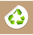 Recycle Label vector image vector image