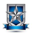 Heraldic template with pentagonal silver star vector image