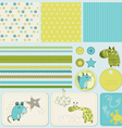 baby scrapbook elements vector image
