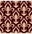 Brown fleur-de-lis seamless floral pattern vector image