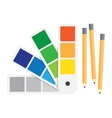 Color swatches book flat style vector image