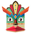 Handicraft design with human face vector image