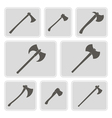 monochrome icons with axes vector image