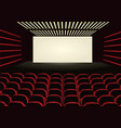 red cinema vector image