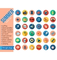 Set of colorful summer vacation beach seaside vector image