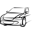 Simple with a car vector image