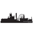Manchester England skyline Detailed silhouette vector image