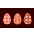 Three Easter eggs 1 vector image vector image