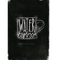 americano cup coffee chalk vector image