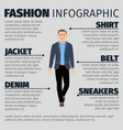 fashion infographic with businessman vector image