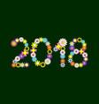 2018 flower numbers vector image