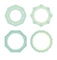 Color lineart geometric ornamental templates set vector image