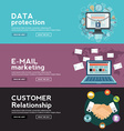 Data protection E Mail marketing and costumer vector image vector image