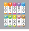Infographic business concept vertical banner vector image