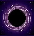 black hole background vector image