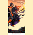 knight of wands tarot card vector image