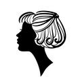 Woman silhouette vector image