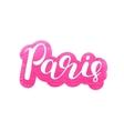 Paris Brush lettering vector image