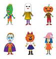Helloween costumes drawings vector image