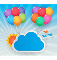 balloon sky background vector image