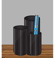 Pencil holder vector image vector image