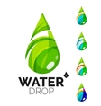 Set of abstract eco water icons business logotype vector image